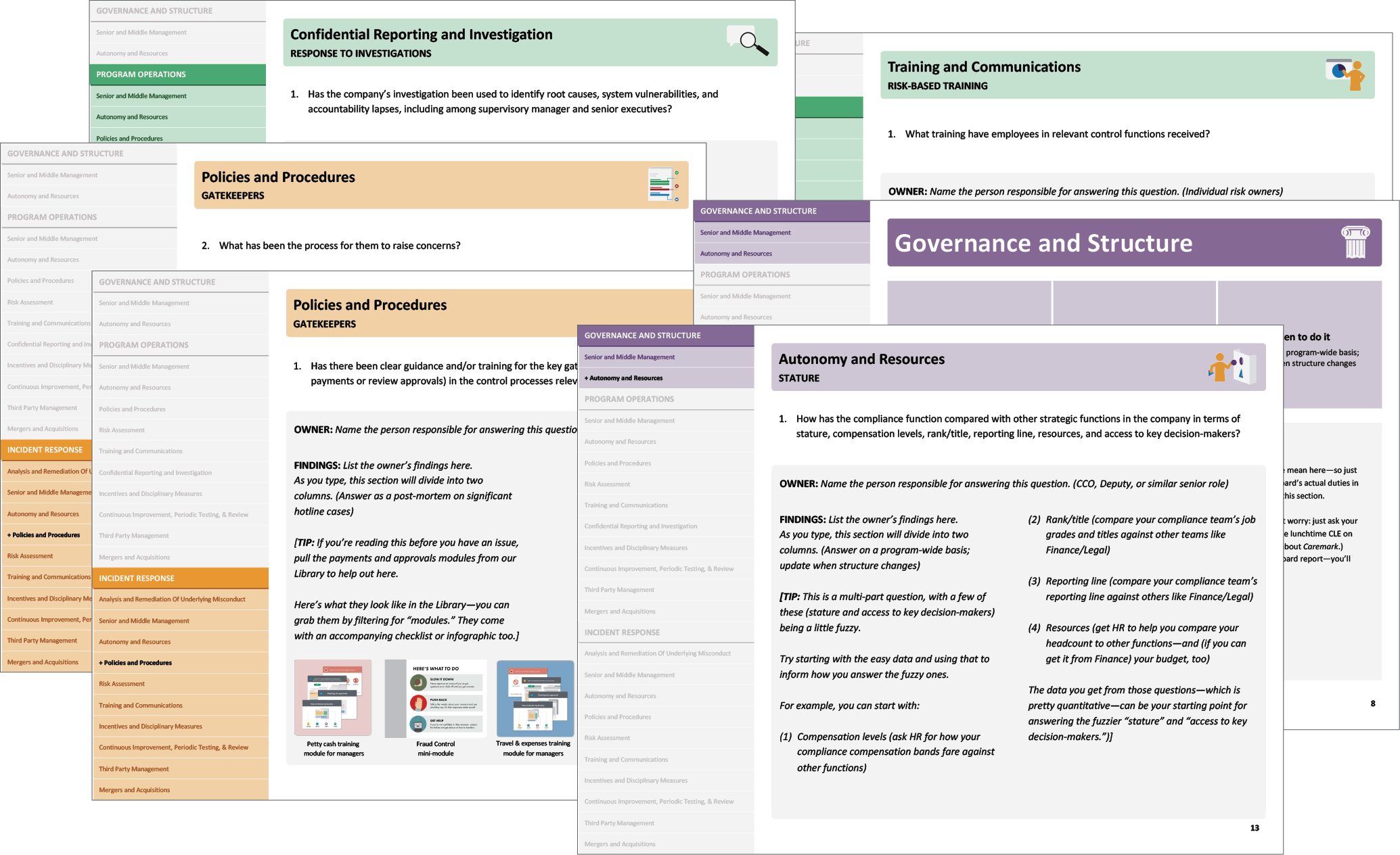 Broadcat's workbook for implementing the Department of Justice's Evaluation of Corporate Compliance Programs guidance