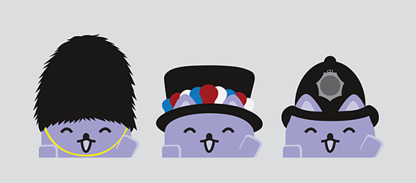 Broadcats with British hats