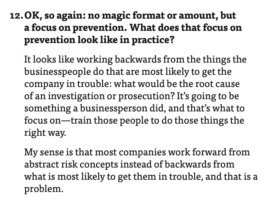 "Quote from Hui Chen Interview Q&A 12: ""What does that focus on prevention look like in practice?"""