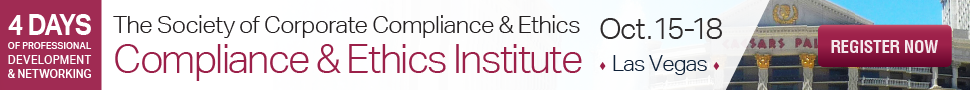 Click here to register for the SCCE Compliance & Ethics Institute