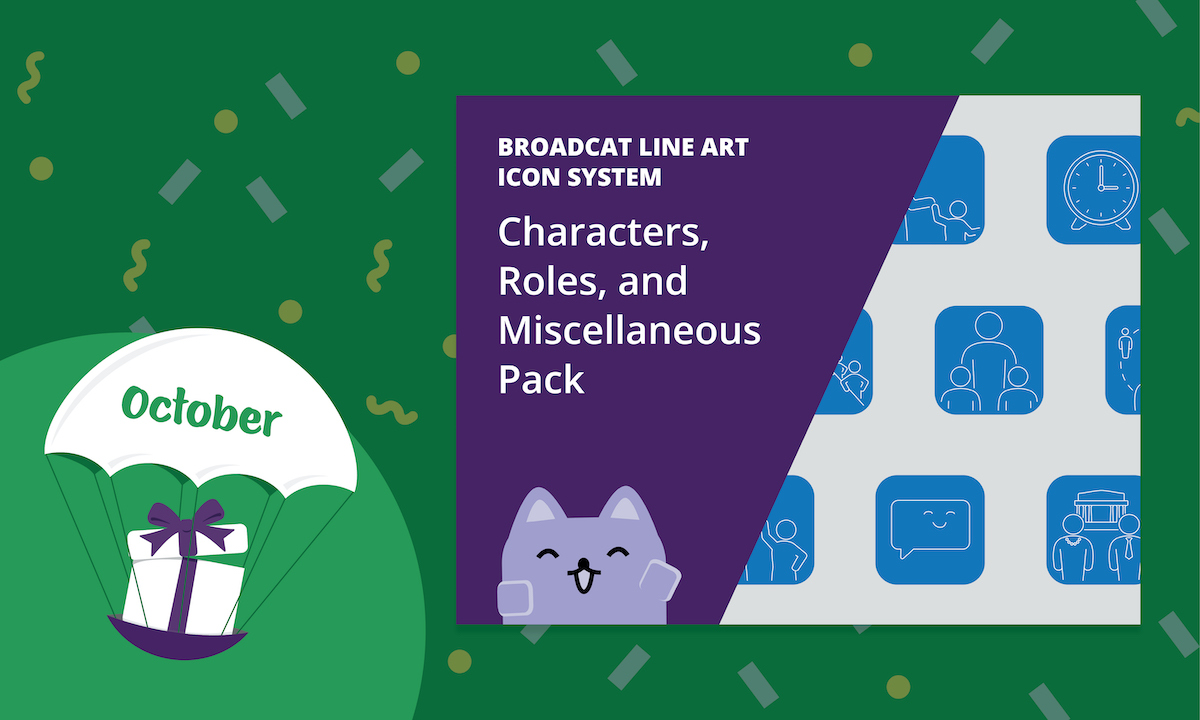 Line Art Icon System: Characters, Roles, and Miscellaneous Pack [October 2020 Gift]