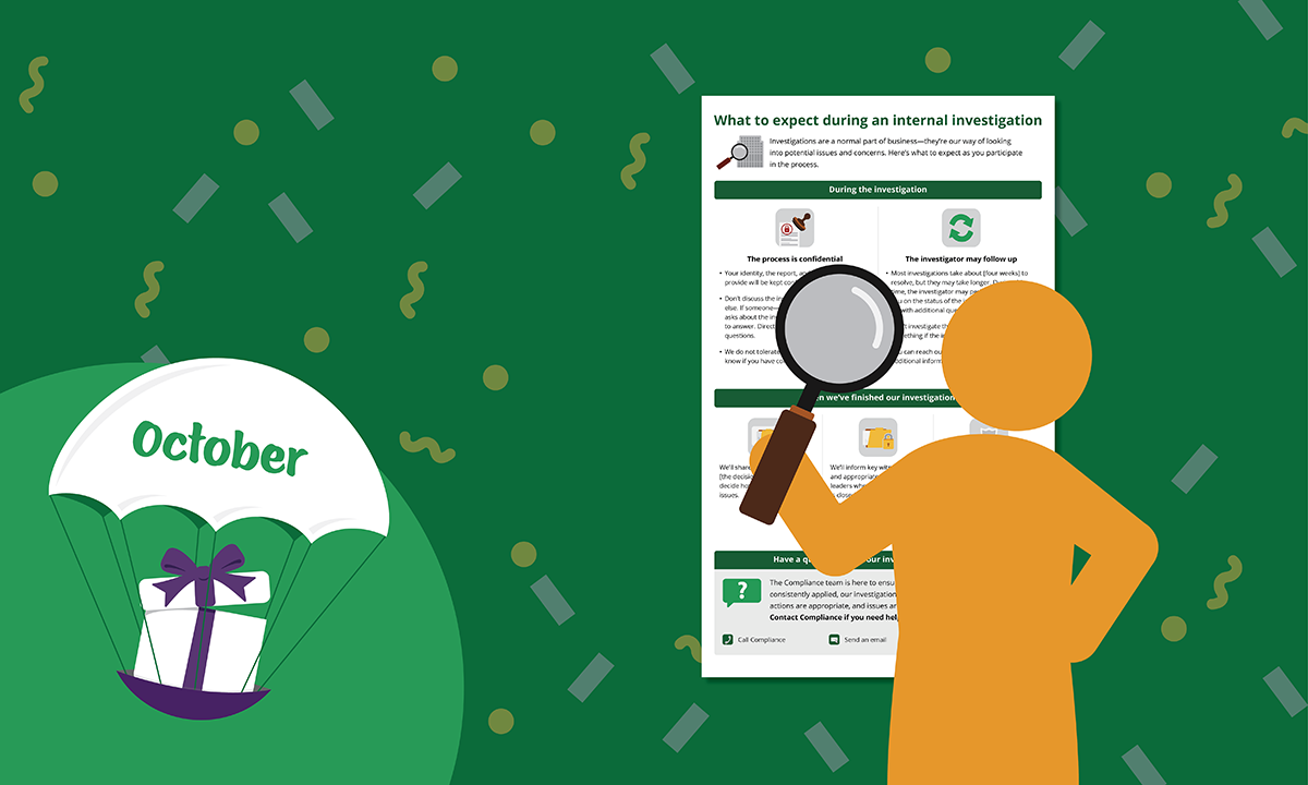 [Blog header] 'What to expect during an internal investigation' Reference Guide [October 2021 Gift]